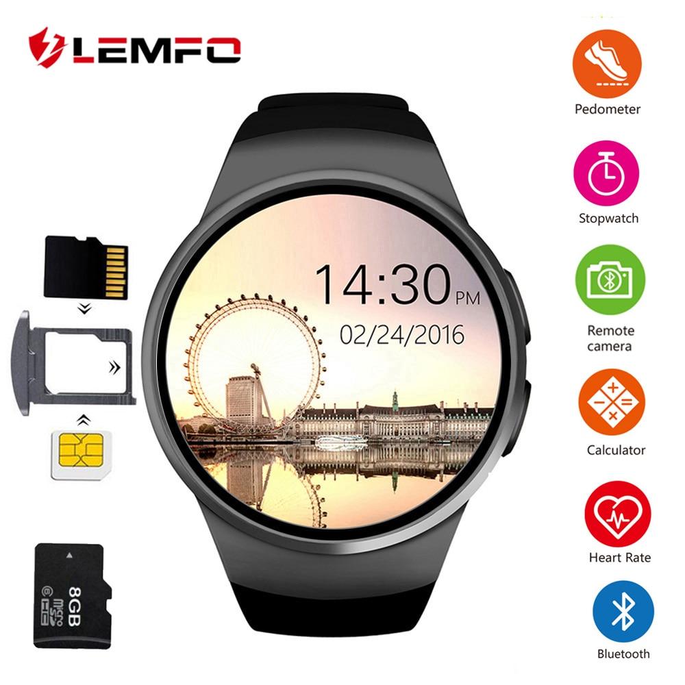 KW18 Smart Uhr Männer Unterstützung SIM TF Karte Bluetooth Anruf Herz Rate Schrittzähler Sport Wasserdichte Smartwatch Für Android IOS