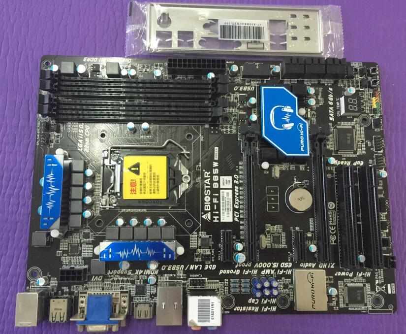 цены Free shipping original motherboard for BIOSTAR Hi-Fi B85W LGA 1150 DDR3 motherboard
