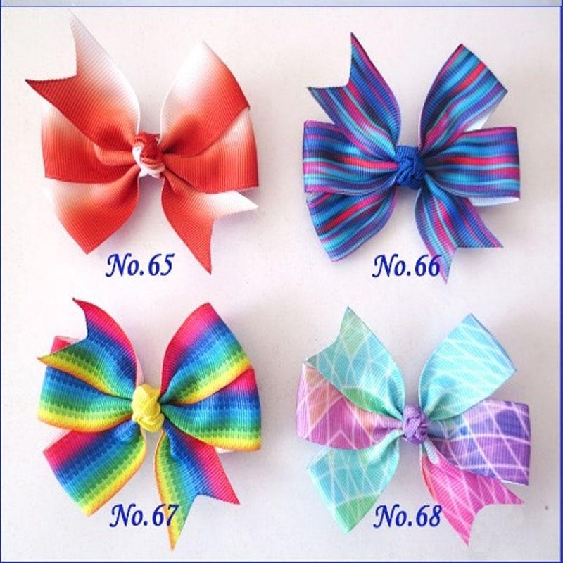 "100 BLESSING Good Girl Boutique 4.5/"" Rainbow ABC Hair Bows Clip Accessories"