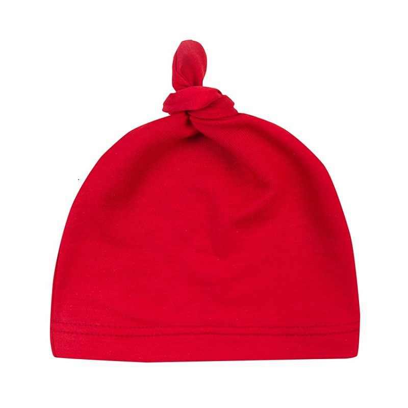 0-24 M ฤดูหนาวทารกแรกเกิดเด็กชายหญิงอบอุ่นหมวกเด็กสีทึบ Beanies Knotted sleep สวมหมวกเด็กอ่อนหมวก Beanie