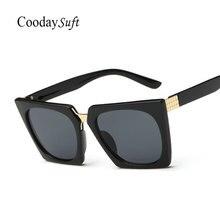 Coodaysuft hipster gafas de sol cuadradas mujeres hombres espejo 2017 new señora diseñador de la marca mujeres refrescan las gafas de sol uv400