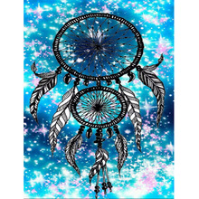 Picture of catch dream net picture 5D DIY diamond mosaic embroidery painting Arts and Crafts cross stitch kit