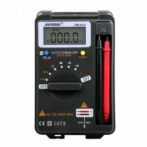 Цифровой мультиметр AUTOOL DM mini DMM, интегрированный персональный карманный мини-мультиметр, амперметр, автоматический тестер диапазона, такой ...