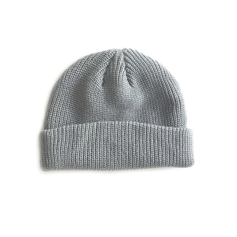 Dropwow 2018 Men Knitted Hat Beanie Skullcap Sailor Cap Cuff ... de5a13f7febd