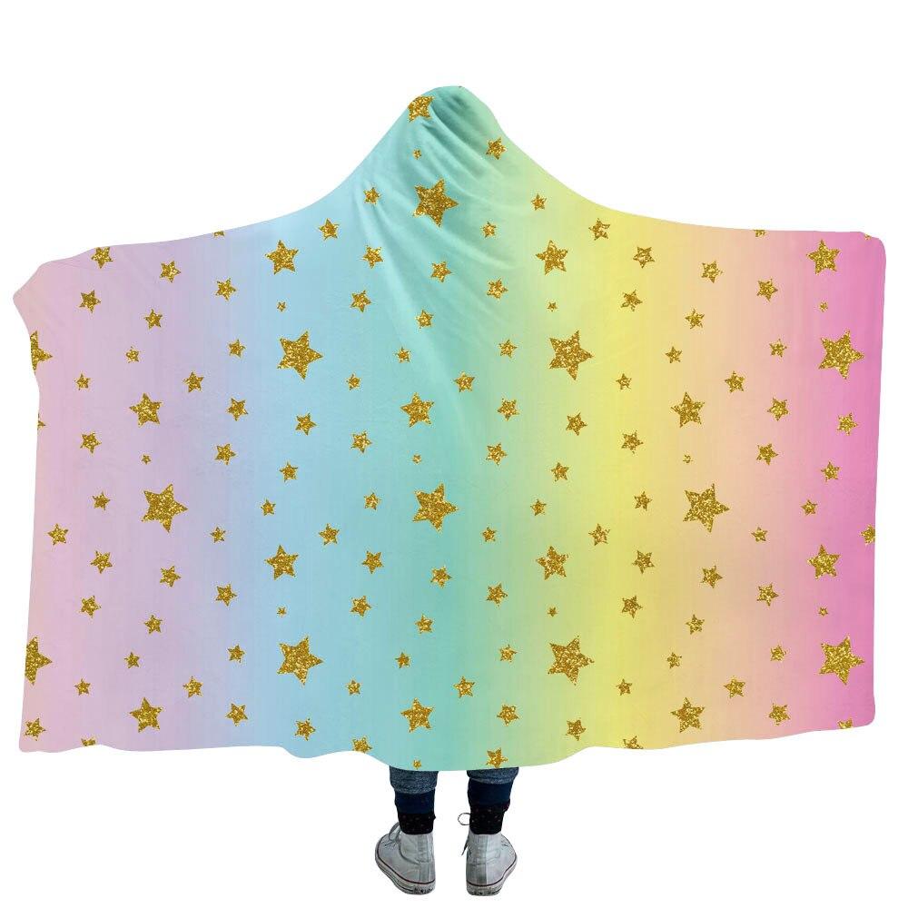 Dropwow Unicorn Floral Hooded Blanket Women Girls Sherpa Fleece ... 8143705f2