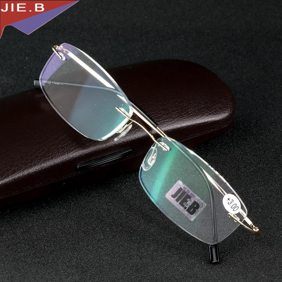 Gafas de lectura ultraligeras sin montura de aleación de titanio +1 +1.5 +2 +2.5 +3 +3.5 +4 ochki dlya chteniya sin montura gafas de lectura