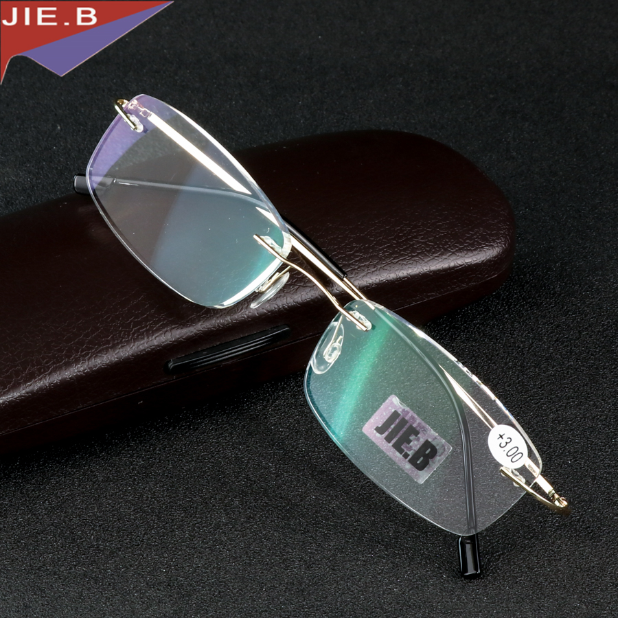 Rimless κράμα τιτανίου Εξαιρετικά ελαφριά γυαλιά ανάγνωσης +1 +1.5 +2 +2.5 +3 +3.5 + ochki dlya chteniya sin montura gafas de lectura