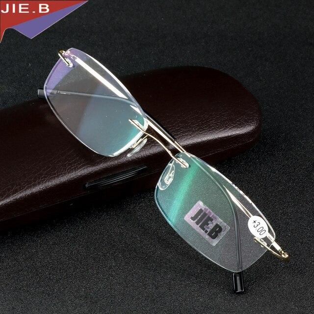 0fea6364fb Rimless Titanium Alloy Ultra light reading glasses +1 +1.5 +2 +2.5 +3 +3.5 +4  ochki dlya chteniya sin montura gafas de lectura