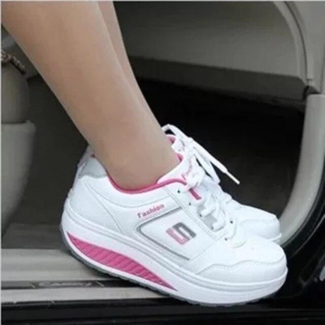 Женская обувь 2016 мода Повысить повседневная клинья Лианы туфли на платформе