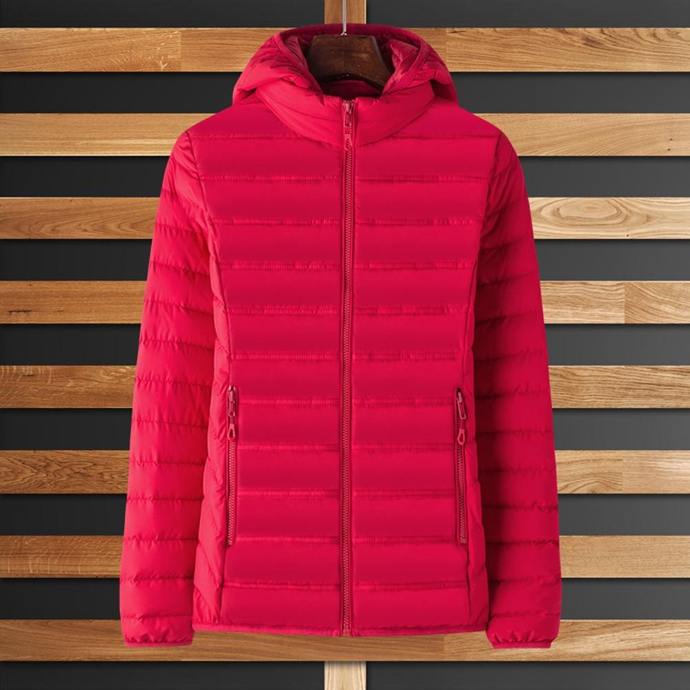 Con Color Mujeres Gruesa Invierno Puro Black Capucha 2018 Chaqueta Abrigo  Algodón Pink Outwear Moda hot ... 65c863ce049b