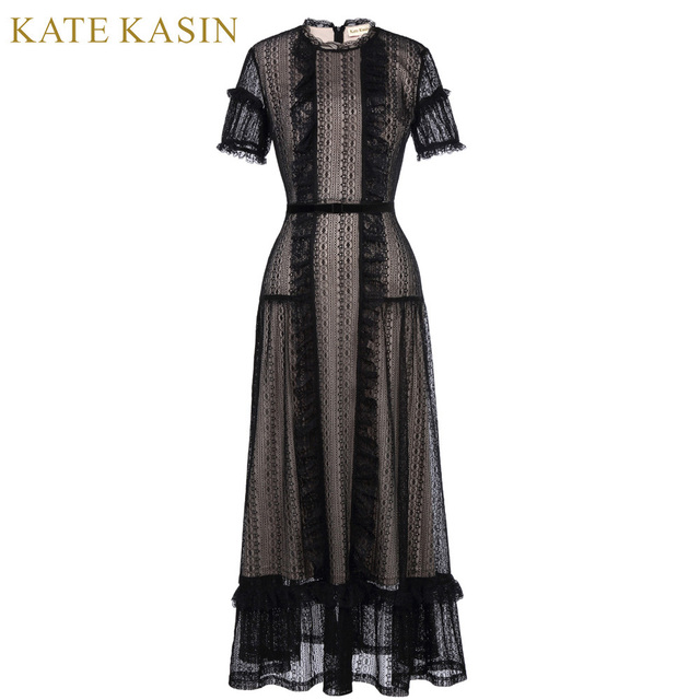 Aliexpress.com : Buy Kate Kasin Short Sleeve Black Prom Dresses 2018 ...