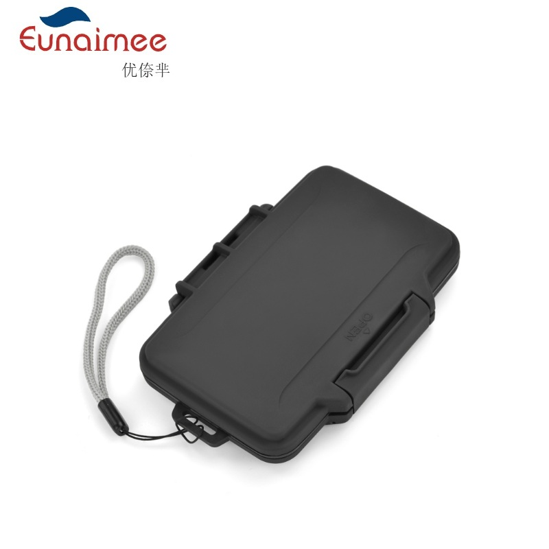 Memory Card Case Box Storage Holder 8 SD  8TF  Micro SD Card 16 Cards Hard Bag Waterproof Plastic Shaped 8TF+8SD Black Silver