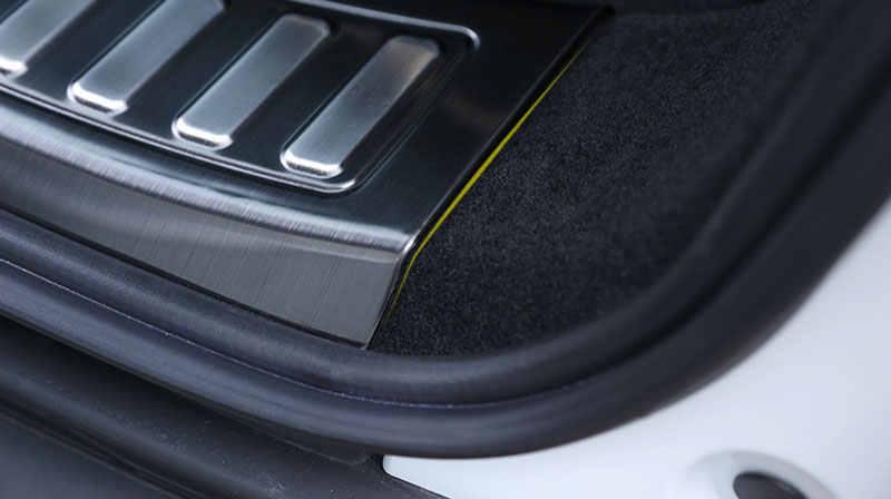 Paslanmaz çelik arka tampon koruma Trim Land Rover Discovery spor 2015 2016 aksesuarları araba Styling