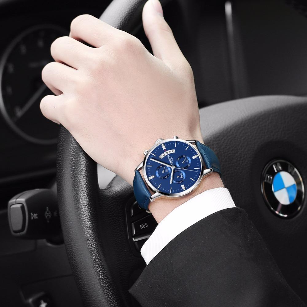 Relojes de hombre NIBOSI Relogio Masculino, relojes de pulsera de cuarzo de estilo informal de marca famosa de lujo para hombre, relojes de pulsera Saat 49