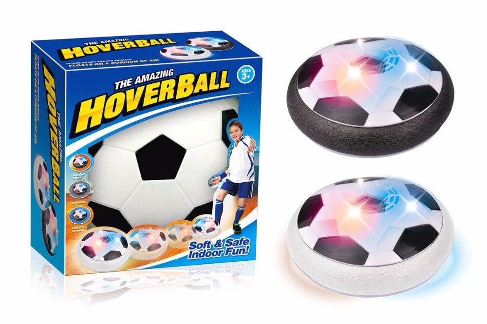 LED luz intermitente bola Juguetes Air Power Fútbol bolas disco deslizamiento multi-Superficie de vuelo juego de fútbol juguete Chidren regalo t272