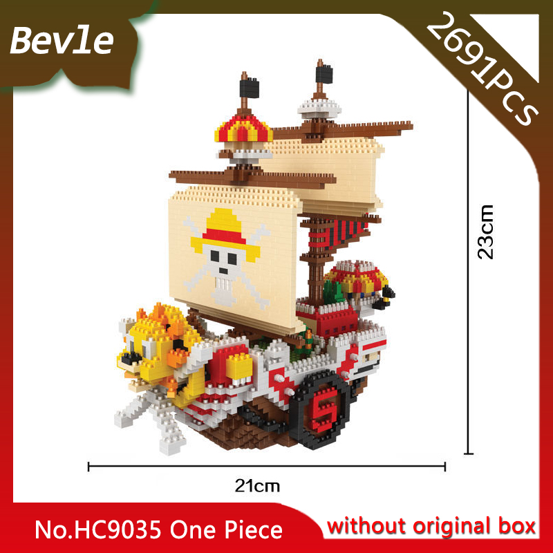 HC 9035 2691Pcs Diamond Series Mini One Piece Ship Model Building Micro Blocks set Bricks Children Toys Kids toys 12 style one piece diamond building blocks going merry thousand sunny nine snakes submarine model toys diy mini bricks gifts