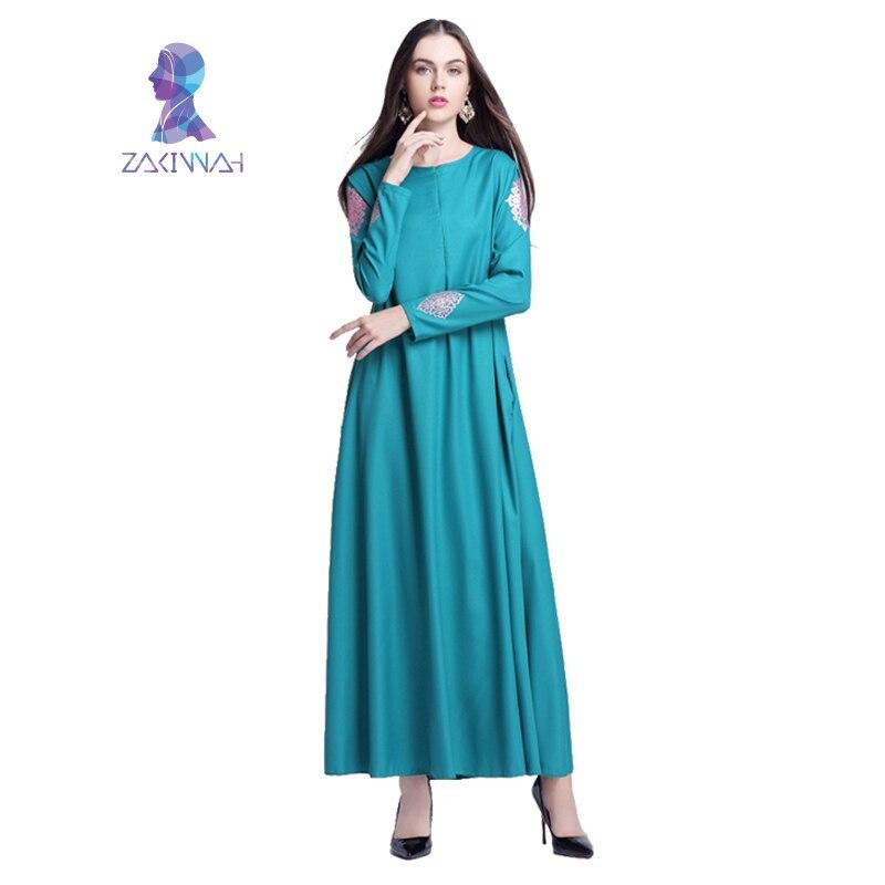 Robe imprimée longue musulmane pour femmes longue Dubaï caftan - Vêtements nationaux - Photo 2