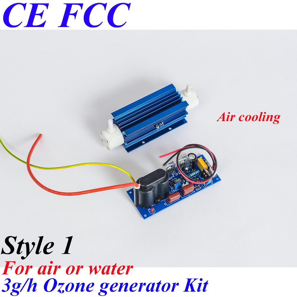 Pinuslongaeva CE EMC LVD FCC 3g/h Quartz tube type ozone generator Kit medical ozone generator parts ozone water air purifier