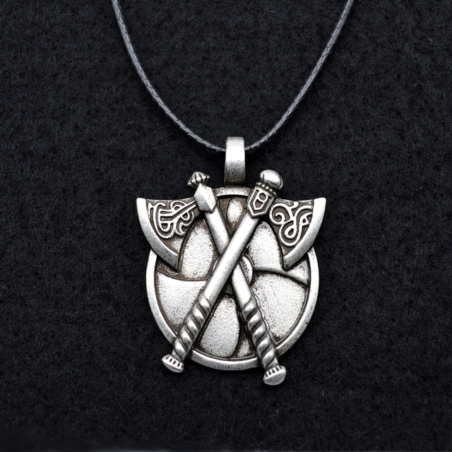 1pcs Viking Legends Jewelry Vintage Tomahawk Axes Pendant Necklace