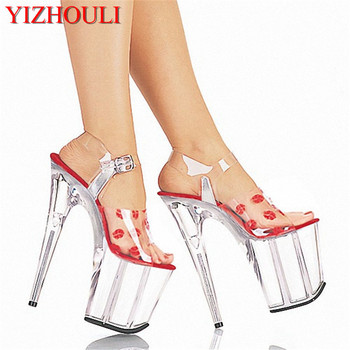 The new 2019 slipper wedding shoes 20 cm high heels and sexy sandals Paris Dance Shoes