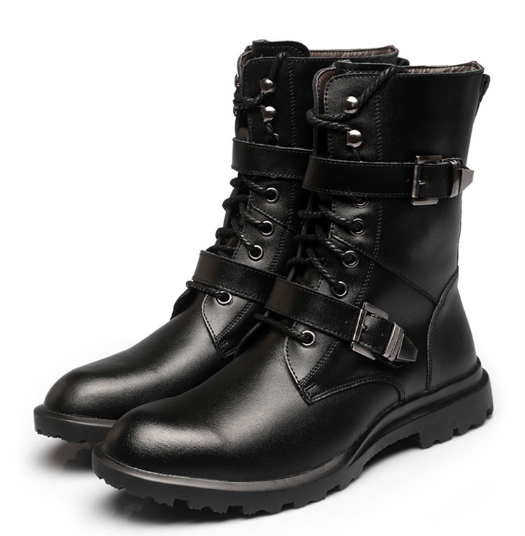 Véritable Occasionnels Pour marron Chaussures Mode Bottes Noir Noir De Classique Cuir 2017 Des Luxe Chaussons Fur Cheville with Haute Qualité D'affaires with Hommes Fur En 3Tl1JFKc