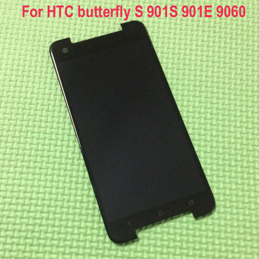 ФОТО 100% Tested Working LCD Display Touch Screen Digitizer Assembly For HTC Butterfly S 901e 901s 9060 9088 Replacement Part