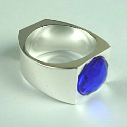 Magnet Ring With Blue Stone Onyx Diamond(19mm/20mm/21mm) Magic Tricks Magician Necessary Accessory Close Up Street Gimmick Props