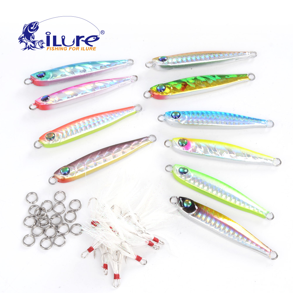 ilure Metal fishing bait 33g curling box bait lead fishing bait sequin knife jigging lure wobbler hard bait fishing lures pesca