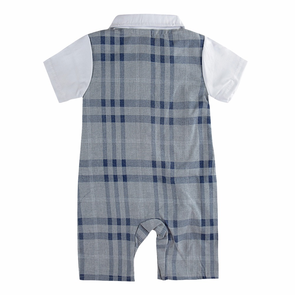 Baby Boy Gentleman Romper Formal Suit Baby Wedding Baptism Clothes ...