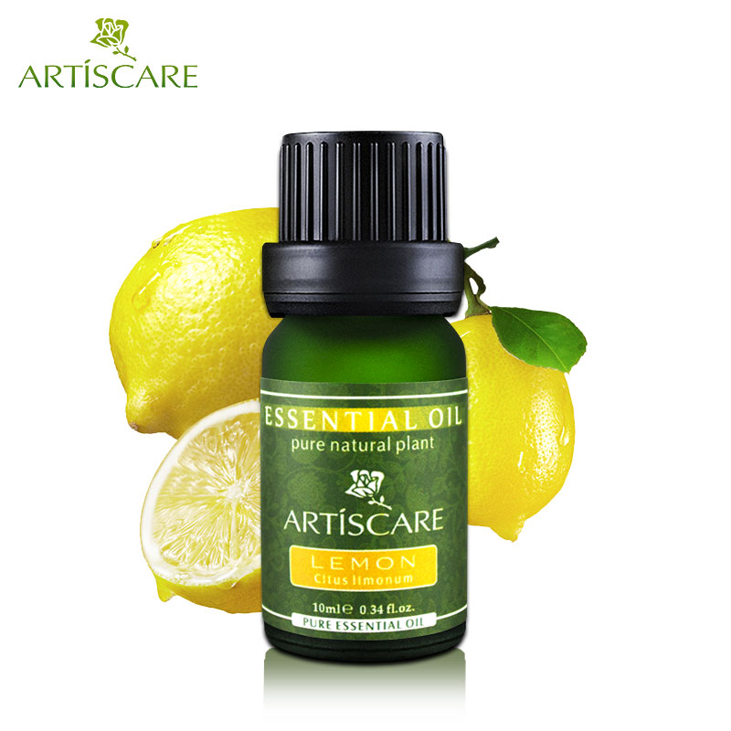 ARTISCARE 100% Natural Pure Lemon Essential Oil 10ml for Brighten and Whitening Improve Dull Skin Facial Care Beauty Massage Oil цена