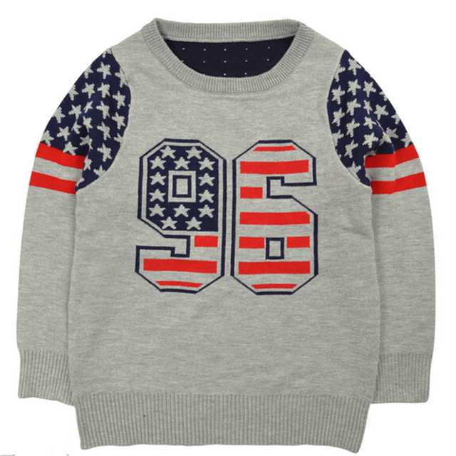 2015 Autumn Winter Sweater for Boys Quality Kids Sweater Blue Grey Fashion Boys  Sweaters Pullover Boy