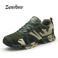 ZENVBNV Men Running Shoes Lace Up Army green Sport Shoes Outdoor Walking Activities Sneakers Comfort Damping Athletic Shoes Men