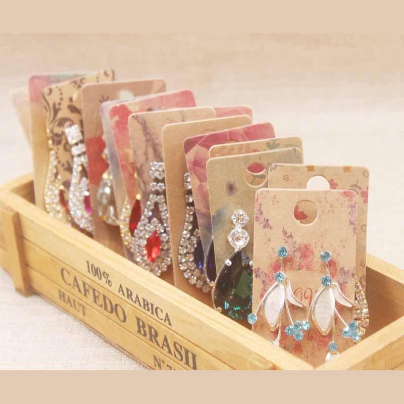 200pcs New Arrived  Earring Display Card Kraft Cardboard Flamingos  Printing  Card Marbling Catch  Dream Jewelry Card 4x9cm Card