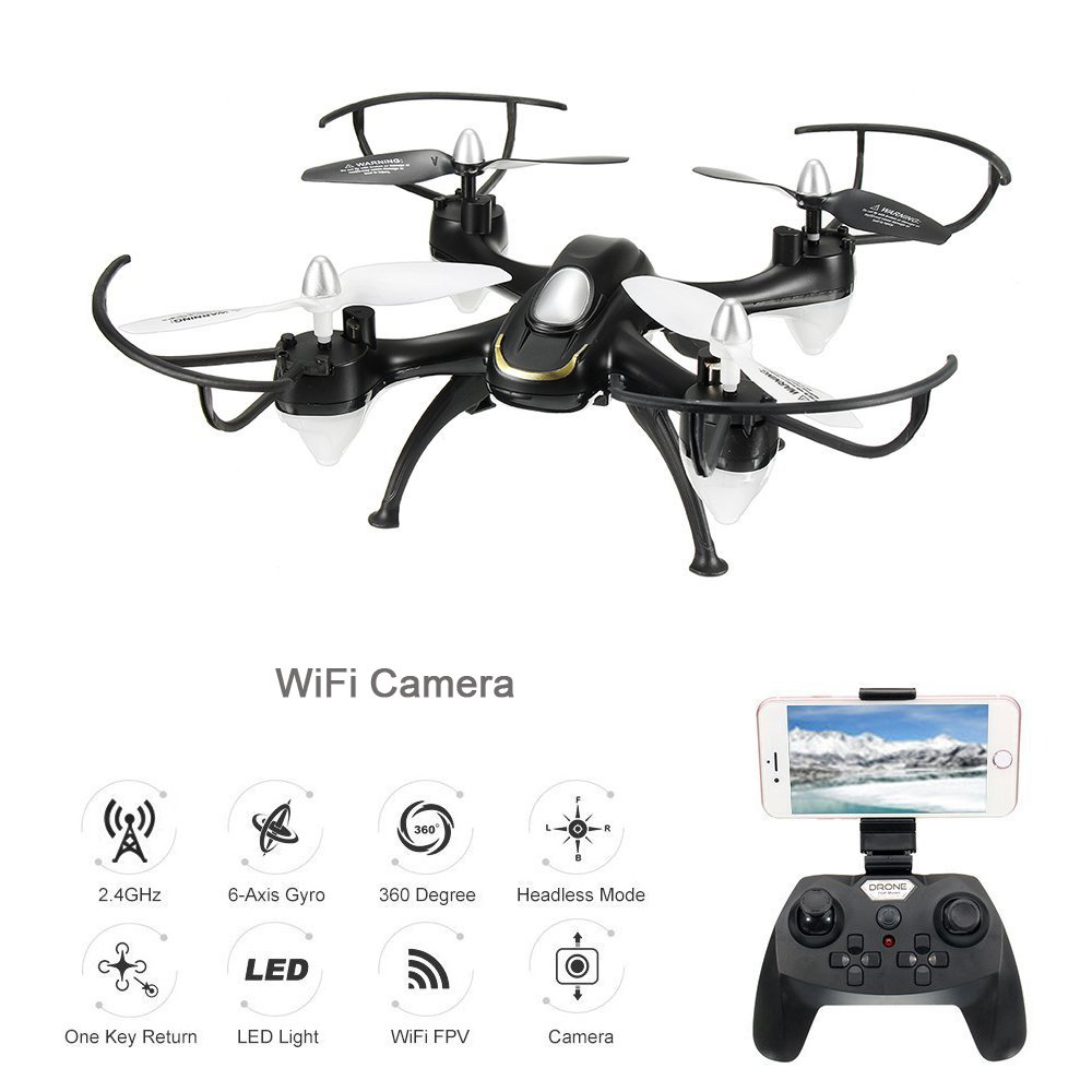 EBOYU(TM) 668-A9W WiFi FPV Quadcopter Drone With Wifi HD Camera Headless Mode One Key Return RC Quadcopter Drone RTF Mode 2 jjrc h8d 2 4ghz rc drone headless mode one key return 5 8g fpv rc quadcopter with 2 0mp camera real time lcd screen s15853