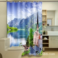 Landscape 3D printing shower curtain cool shower curtains for bathroom free shipping