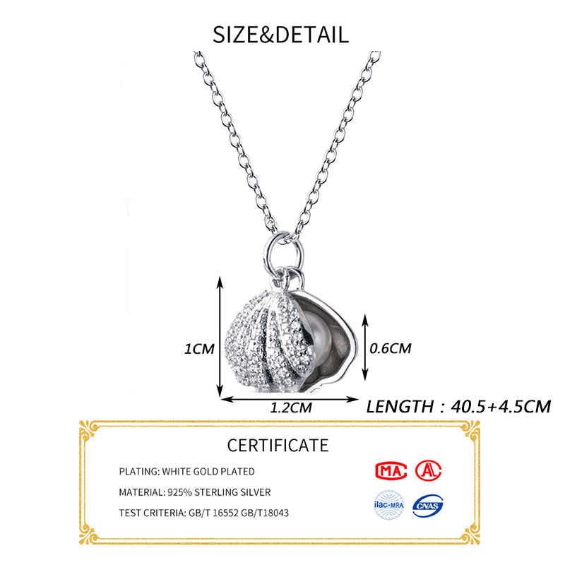 INZATT אמיתי 925 כסף סטרלינג זירקון מעטפת קולר שרשרת אופנה נשים מפלגה תכשיטים חמוד 2019 אביזרי מתנה
