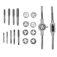 20pcs Taps Dies Sets Kits 18pcs M3 M12 Screw And 2pcs Wrench Thread Inch Plugs Taps