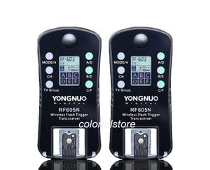Image 2 - 4 x YongNuo RF 605=RF 603+RF 602 N Wireless Remote Flash Flashes Trigger Shutter Release Transmitter Receiver for Nikon SLR DSLR