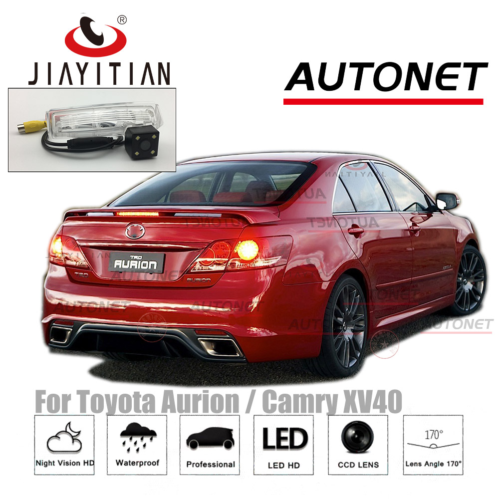 цена на JiaYiTian Car camera For Toyota Aurion / Camry XV40 2007~2013/CCD/Night Vision/Backup Parking Camera/ License Plate Light OEM