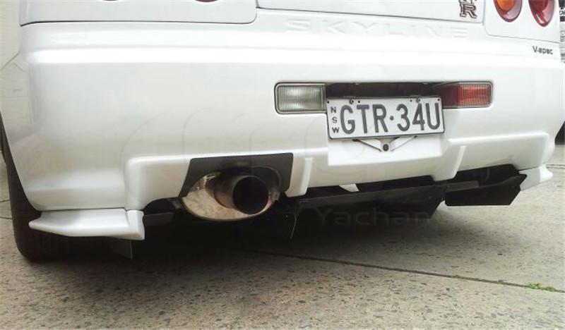 1999-2002 Nissan Skyline R34 GTR Rear Bumper Exhaust Heatshield CF (5)
