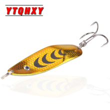 Hot Metal Fishing Lure Hard Bait Spoon Baits Isca Artificial  50mm 6.5g Pesca Peche metal jig accessories WQ487