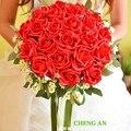Свадебный Букет Горячие Продажа цветов Искусственные Невесты Руки Холдинг Розы Свадебный
