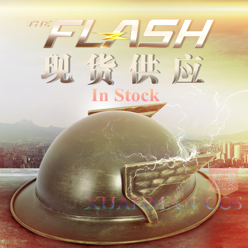 in Stock Sale Overall Discount 50-70% The Flash Season 2 Jay Garrick Silver Kettle Helmet Cosplay Hat For Cos For Halloween Christmas