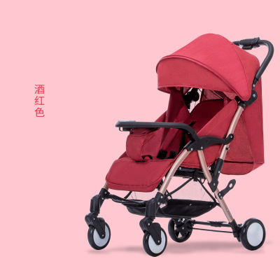 Baby stroller can sit and lie on the plane 5.6KG easy folding super wheel shock absorber baby stroller umbrellaBaby stroller can sit and lie on the plane 5.6KG easy folding super wheel shock absorber baby stroller umbrella