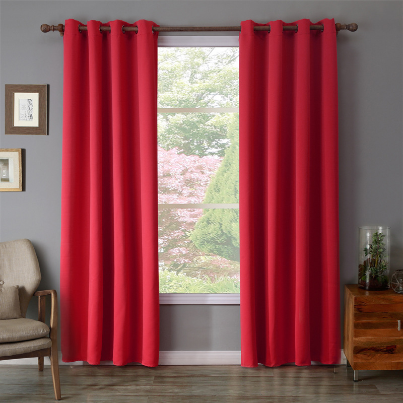 Xyzls Brand New High Quality Red Curtains Shade Blackout