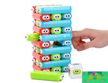 Новинка 2017 Jenga 30 Блоки 1 кубик Симпатичные резиновые Jenga башня, строительный блок, развивающие игрушки для детей