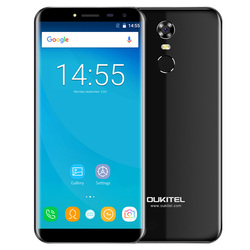 OUKITEL C8 3G Phablet Smartphone 5.5 Inch Android 7.0 MTK6580A Quad Core 1.3GHz 16GB ROM Fingerprint Scanner 8.0MP Rear Camera