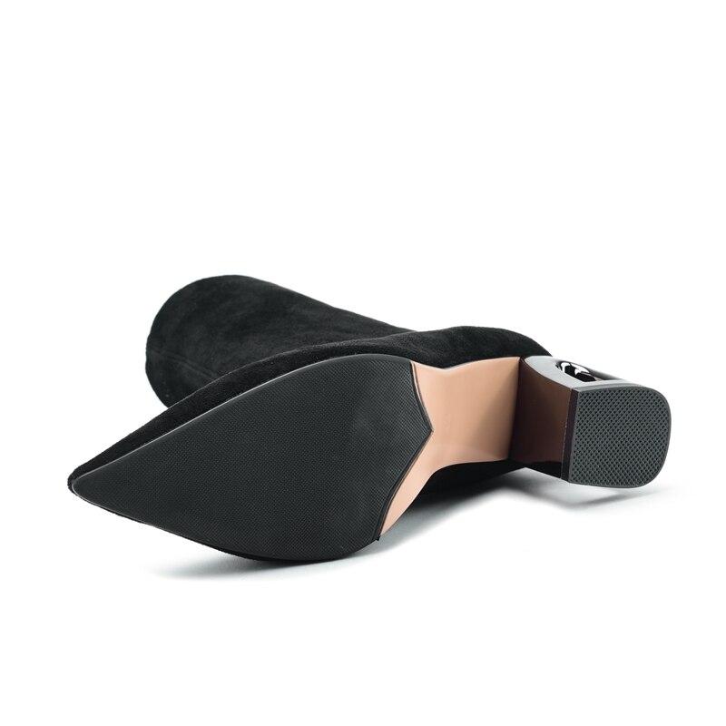 40 Knöchel Kurze 34 Slip Black Anmairon De Ly107 Für Neue Ankunft High Frauen Spitz brown Heel Größe Stiefel Zapatos on Mujer EBEwtTgq