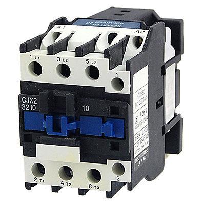 CJX2-3210 660V Ui 50A Ith NO 3 Poles AC Contactor 380V 50/60Hz 32A cjx2 09 motor control 3 poles 1 no coil volt ac 380v contactor