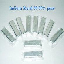 99.99% чистый металл Индий с большой скидкой 20 г/шт. дешевый металл Индий